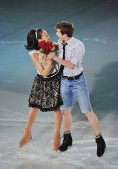 figure skating world champion 2008 JEFFREY BUTTLE and MAO ASADA by mike.speech14, via Flickr