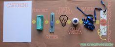 Diy Segnalibro personalizzato in 6 steps: occorrente Personalized bookmark in 6 steps: tools