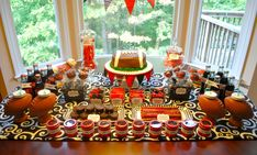 """University of Georgia Football """"Red & Black Football Dessert Table"""" 