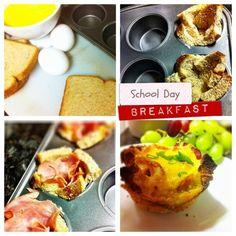 desayunos faciles para los días de colegio. Very easy breakfast for school days