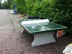 Pingpongtafel Groen bij Gemeentewerf Bedum in Bedum