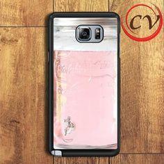 Pink Glass Mason Jar Samsung Galaxy Note 6 Case