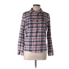 Pre-owned Madewell Long Sleeve Blouse ($35) ❤ liked on Polyvore featuring tops, blouses, light pink, long sleeve tops, long sleeve blouse, madewell, light pink top and light pink blouse