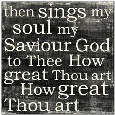 I love this song.  It brings back so many wonderful memories of growing up in a Christian home....