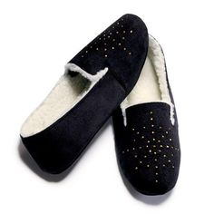 A chic suedelike upper and comfy-cozy lining make this the perfect holiday slipper. Polyester. <br>Half sizes order one size up.  ~ order at www.youravon.com/atodd