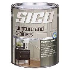 SICO Furniture and Cabinets Interior Paint. Pairs the best of alkyds with a water-based, low VOC formula. For my fabric cabinet! Now, to choose a colour. At Rona! White Painted Furniture, Paint Furniture, Furniture Projects, Sico Paint, Armoire, Melamine, Entryway Furniture, Bathroom Renos, Kitchen Redo