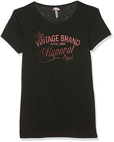 Kaporal Babele17g11, T-Shirt Fille: Kaporal T-Shirt Fille Babel Noir Description du produit Tee-shirt imprimé Col rond Inscription effet…