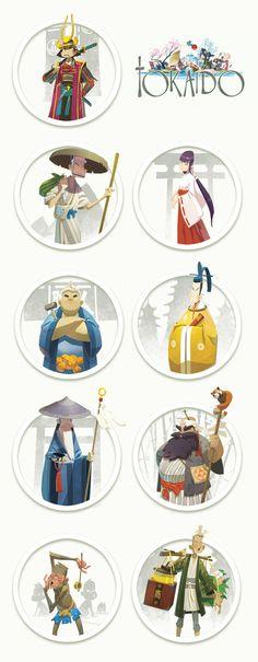 TOKAIDO characters 02 by ~naiiade on deviantART