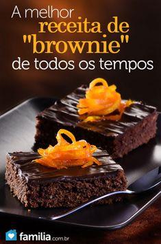 Receita simples de como fazer o Brownie, principal
