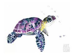 Sea Turtle Art Poster Print by Suren Nersisyan, 16x12