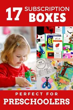 Preschool subscription boxes are awesome! Check out these 17 best subscription boxes for preschoolers to get the best preschool activities, crafts, books, and more! You can even get a preschool curriculum in a box if you're doing preschool at home! Find the best preschool activity crate for your child here!