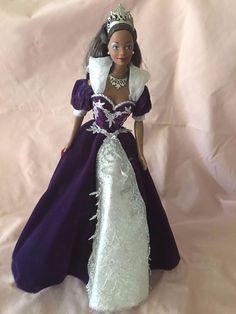 1999 MILLENNIUM PRINCESS AA Barbie PURPLE Dress MANUFACTURER DEFECT**RARE** #Mattel #DollswithClothingAccessories