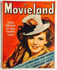 Judy on the cover of Movieland (December Golden Age Of Hollywood, Classic Hollywood, Harvey Girls, Old Fat, Romantic Love Stories, Movie Magazine, Orson Welles, Judy Garland, Get Happy