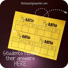 Create your own RATIO! A quick and easy activity that has students creating and evaluating ratios! sixth grade freebie theteachyteacher.com