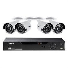 This is a Lorex HD DVR with four bullet is the top-of-the-line system that includes cutting-edge HD DVR with 4 bullet security cameras. It features HD resolution bullet cameras with backward. Security Surveillance, Security Alarm, Surveillance System, Security Camera, Camera Surveillance, Video Security System, Home Security Tips, Wireless Home Security Systems, Digital Video Recorder
