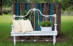 wrought iron headboard in garden diy - Avast Yahoo Image Search Results