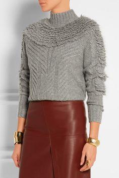 Gray wool-blend Slips on 77% wool, 12% mohair, 7% nylon, 4% wool Dry clean