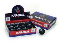 Karakal Yellow Dot Squash Balls by Karakal. $36.00. The Karakal Yellow Dot Squash Balls are approved to World Squash Federation specifications.  The balls meet the SRA standard and are made of a non marking rubber. They are designed to be super slow for tournament play. -Box of 12- (KZ675)