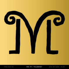 """Project M #17 """"Classic"""" - I was doodling a Roman column type thing and with a misstroke, the basis of this M suddenly showed up. Lucky mistake!"""