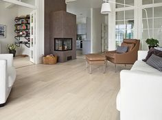 Oak HW www. White Wooden Floor, Wooden Flooring, Living Room Interior, Kitchen Remodel, Wax, Interior Design, Inspiration, Furniture, Beautiful