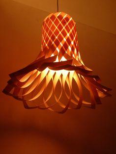 Open Flower Veneer Lampshade by Vayehi on Etsy, $270.00
