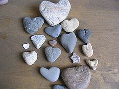 heart shaped rocks - Google Search