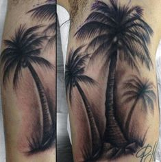Cool Rib Cage Side Black Shaded Palm Tree For Men
