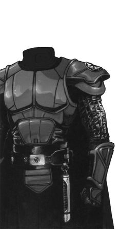 I'd like to think the (Old Republic) Jedi Knights wore an armor, that both Vader's suit, and the Storm troopers' armor were descended from Sith Mask, Sith Armor, Mandalorian Armor, Knight Armor, Jedi Knight, Star Wars Rpg, Star Wars Jedi, Armadura Steampunk, Sith Costume