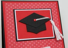 Graduation card and tutorial on making the cap