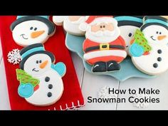 How to Make Snowman Cookies - Semi Sweet Designs