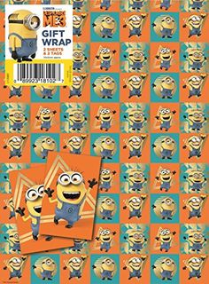 Despicable Me 3 Wrapping Paper Gift Wrap 2 Sheets X Minions Minion for sale online Christmas Gift Wrapping, Gift Wrapping Paper, Wrapping Papers, Paper Tags, Paper Gifts, Minion Gifts, 3 Minions, Despicable Me 3, Paper Houses