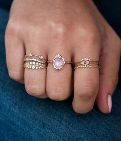 pink contemporary original recycled rings note medium certified rose gold collections love down ring audry contemp engagement