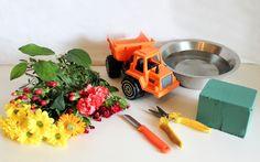 Kuorma-autollinen kukkia | lasten | lapset | idea | askartelu | kädentaidot | käsityöt | kukkakimppu | asetelma | kesä | juhlat | karnevaalit | summer | party| carnivals | DIY | ideas | kids | children | crafts | home | flowers | Pikku Kakkonen