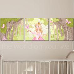 Παιδικοί πίνακες σε καμβά Princess