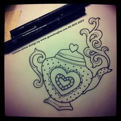 teapot tattoo