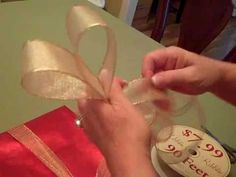 HOW to MAKE GORGEOUS BOWS for GIFT-WRAPPING!  A VIDEO Tutorial!