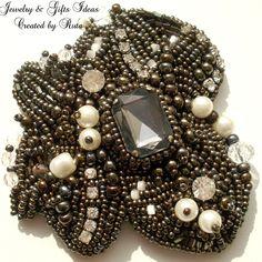 "Bead embroidery brooch ""Magic"""