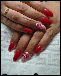 Unhas de gel vermelho e nail art