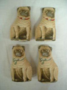Plush printed dogs, circa 1892. Colchester Historeum collection, Truro