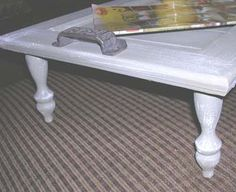 Tea tray from old cabinet door and spindles.  DIY Craft Projects using Old Balusers and Spindles - Trash to Treasure