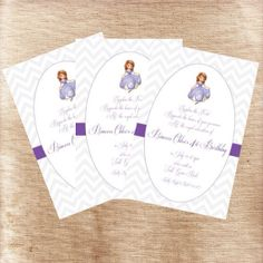 Instant Download  Sofia the First Birthday by LilyBugDesignsbyKB, $6.50