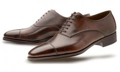 And on the other side of the spectrum, extremely fine plain cap oxfords from John Lobb for the low low price of $1685.