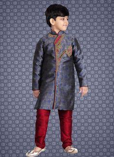 d26e87f98d3 Casual Traditional Kurta Readymade Pajama Kids Indian Ethnic Bollywood  stitched  TanishiFashion Boys Kurta
