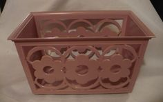 images 60s Kitchen, Napkin Holders, Shabby Chic Pink, Flower Power, Napkins, Decorative Boxes, Mid Century, Flowers, Plastic