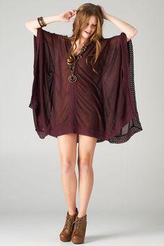 Vestido túnica mini…