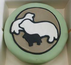 Newfoundlanders  #taart #bakken #fondant #baking #cake #newfoundlander #newfoundlanddogs #honden #dogs #cakedecorating