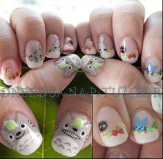 TOTORO NAILSYoko at Atlas Studio has done my San Diego Comic-Con nails for the last four years. I let my geek flag fly high this week and in the past have asked her to do some pretty intense nail art.