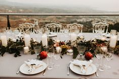 A romantinc private wedding dinner at the roof garden of Oceania for the chosen ones Private Wedding, Wedding Dinner, Villas, Got Married, Wedding Photos, Weddings, Table Decorations, Garden, Marriage Pictures