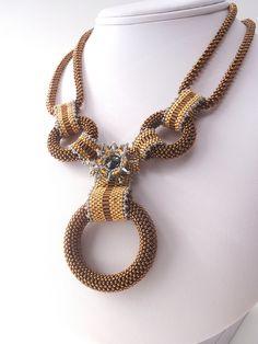 Seed Bead Necklace, Seed Bead Jewelry, Beaded Jewelry, Handmade Jewelry, Beaded Necklaces, Jewellery, Seed Bead Crafts, Schmuck Design, Bead Crochet