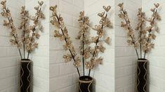 Jute Flowers, Diy Flowers, Flower Vases, Flower Diy, Jute Crafts, Diy Crafts, The Creator, Hemp, Youtube